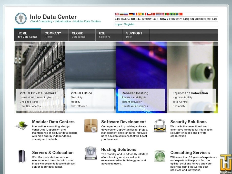 infodatacenter.com Screenshot