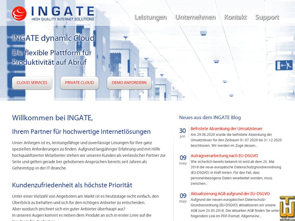 ingate.de Screenshot