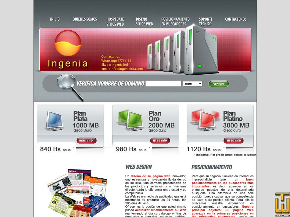 ingenialtda.com Screenshot