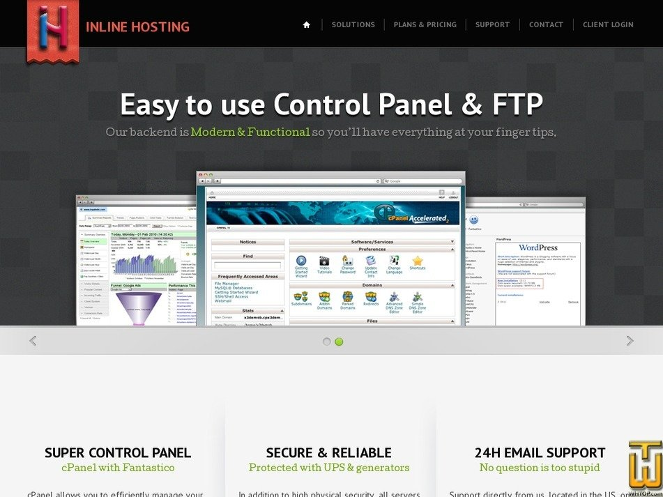 inlinehosting.com Screenshot