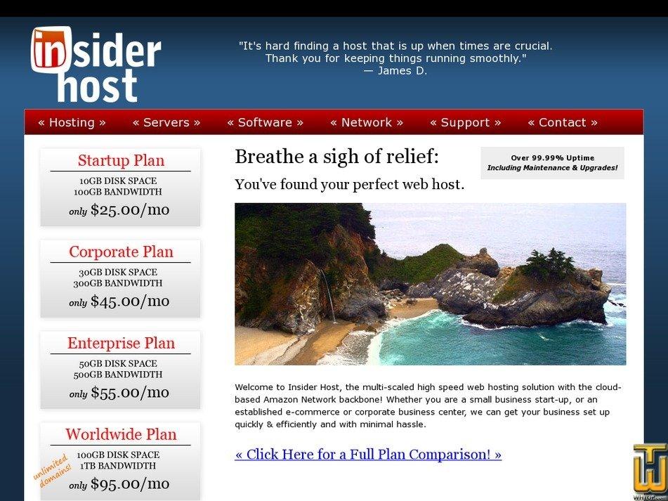 insiderhost.com Screenshot
