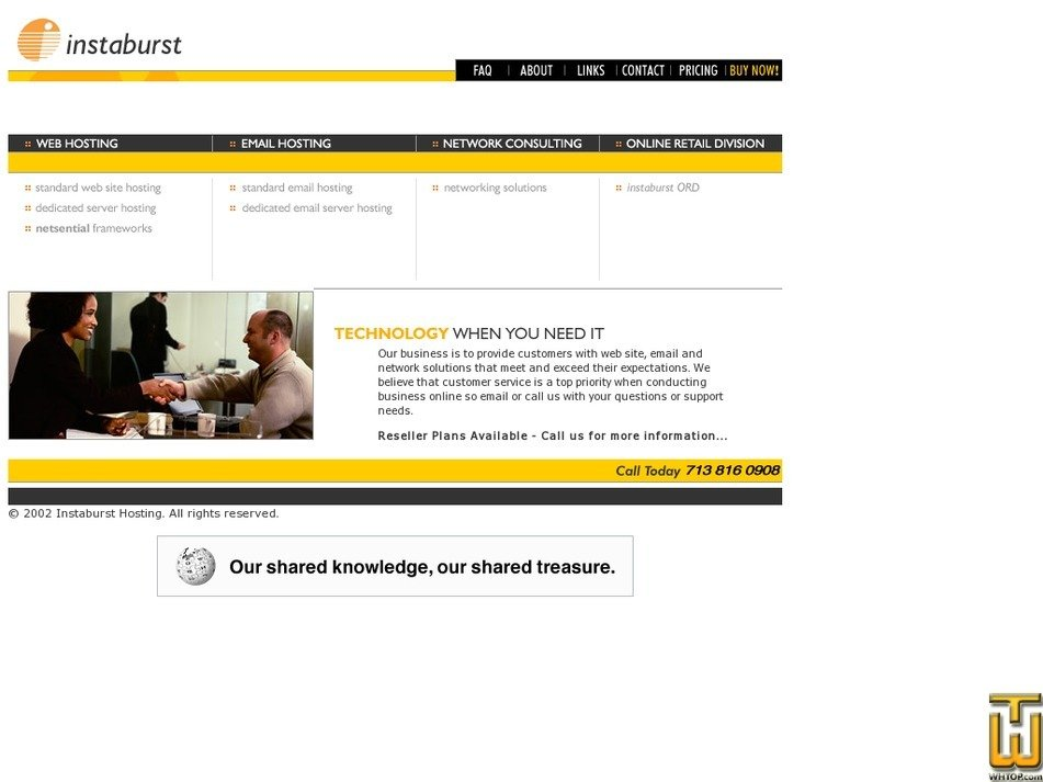 instaburst.com Screenshot