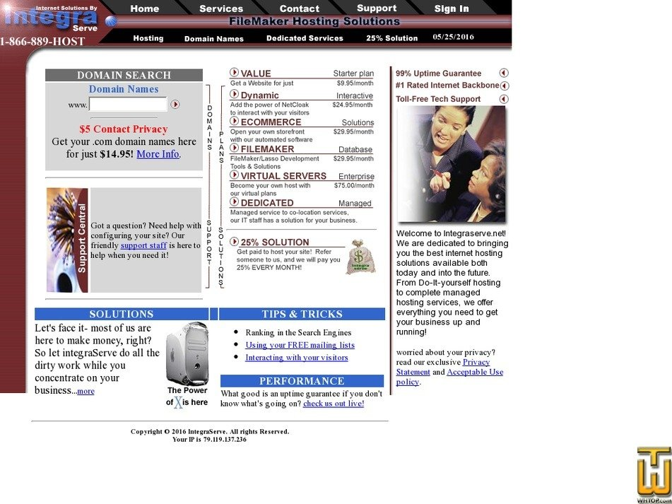 integraserve.net Screenshot