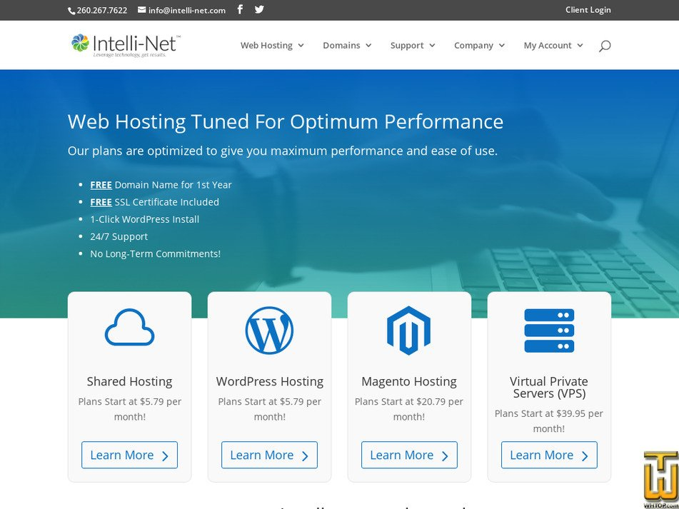 intelli-net.com Screenshot