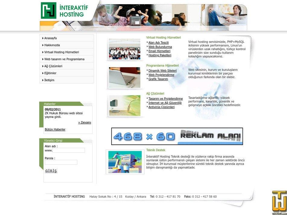 interaktifhosting.com Screenshot