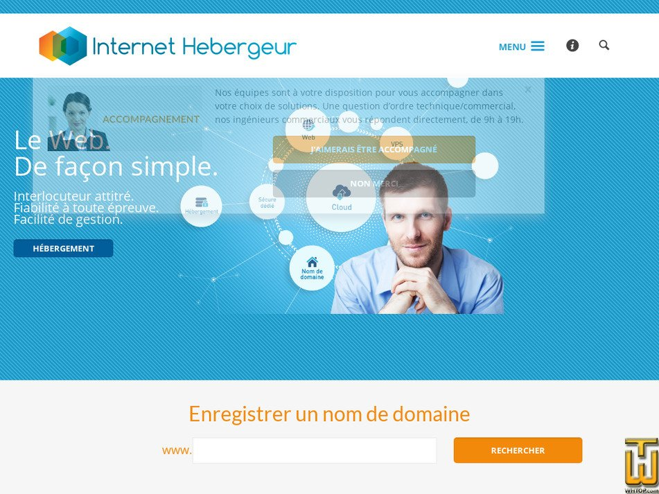 internet-hebergeur.com Screenshot