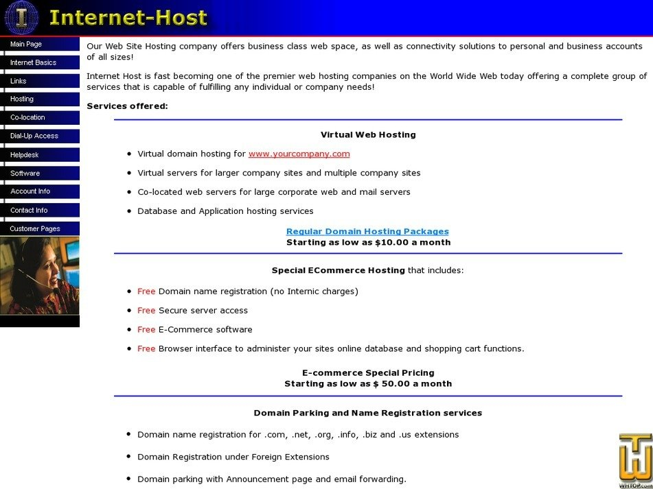 internet-host.com Screenshot