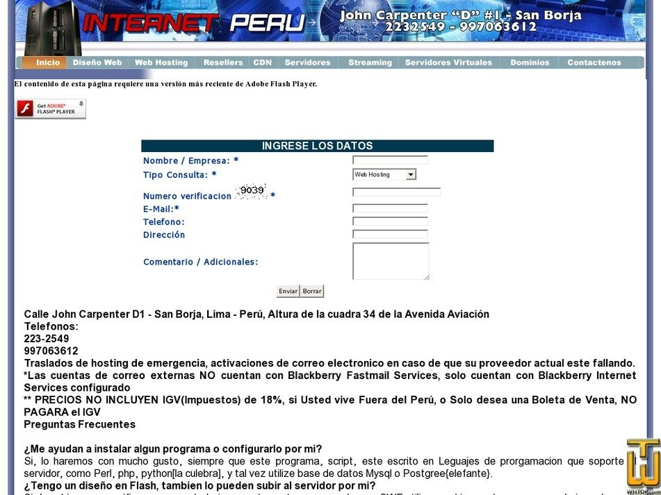 internet.com.pe Screenshot