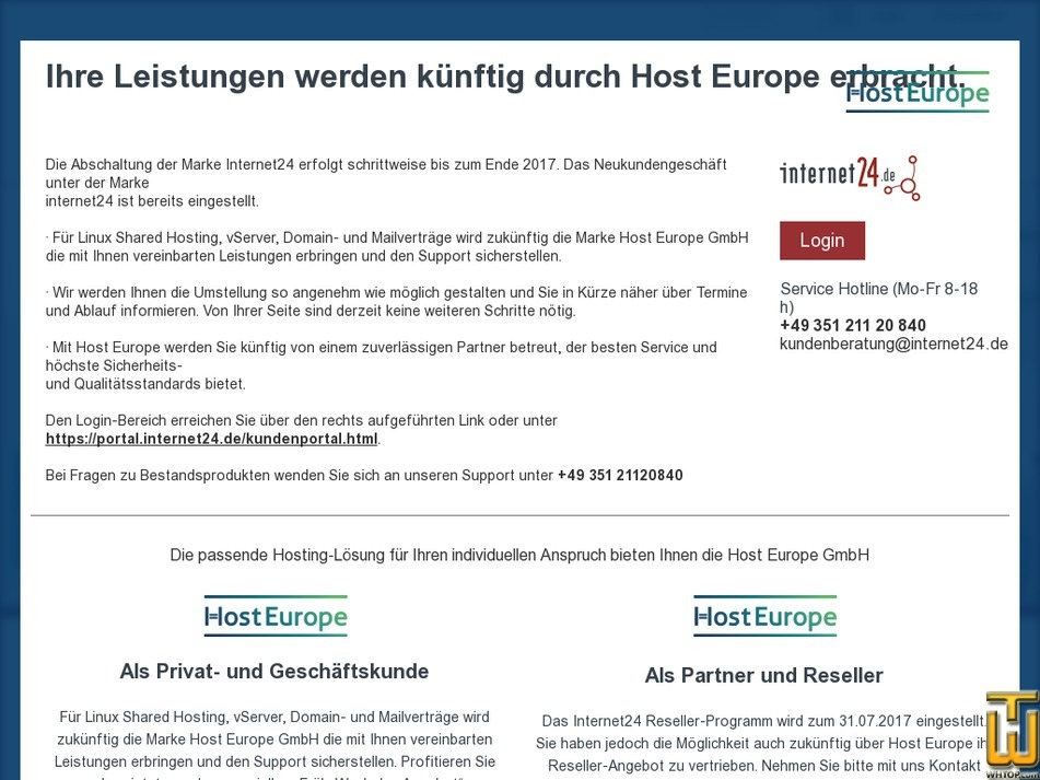 internet24.de Screenshot