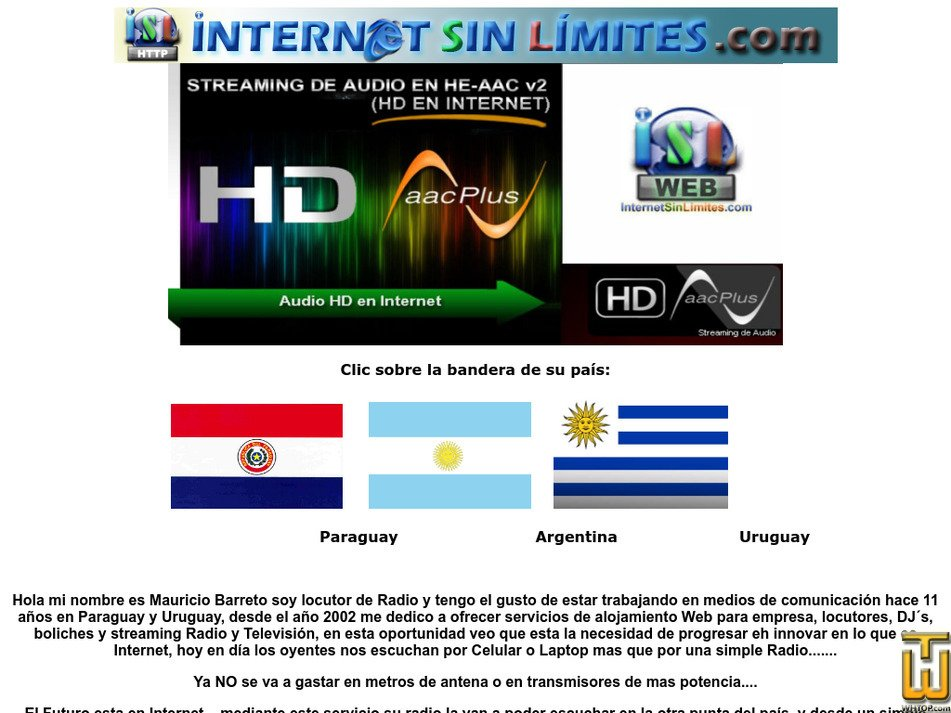 internetsinlimites.com Screenshot