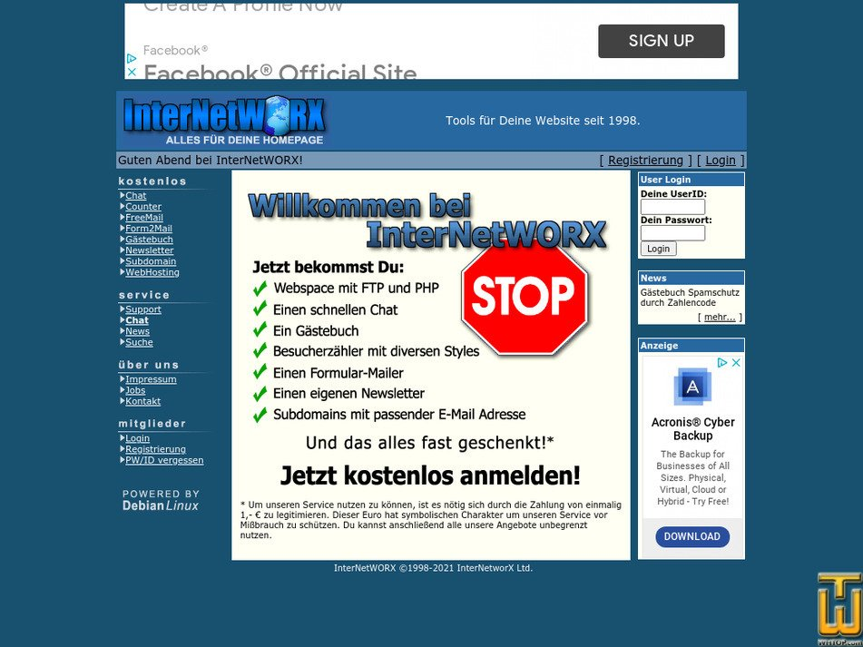 internetworx.org Screenshot