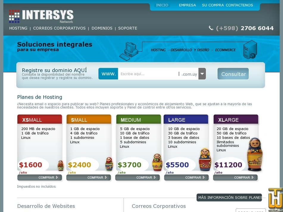 intersys.com.uy Screenshot