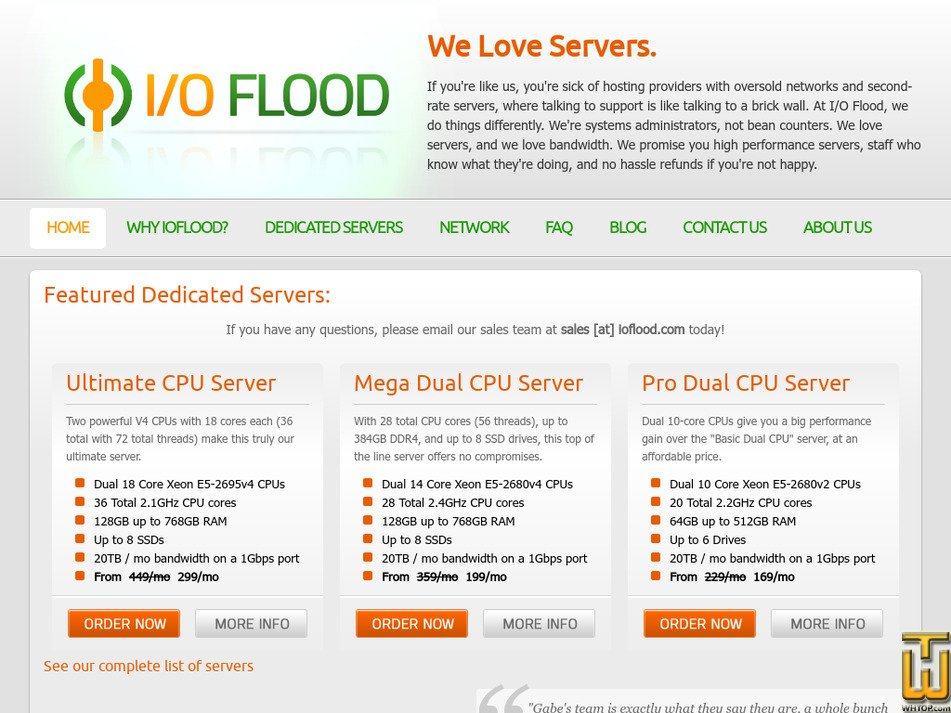 ioflood.com Screenshot