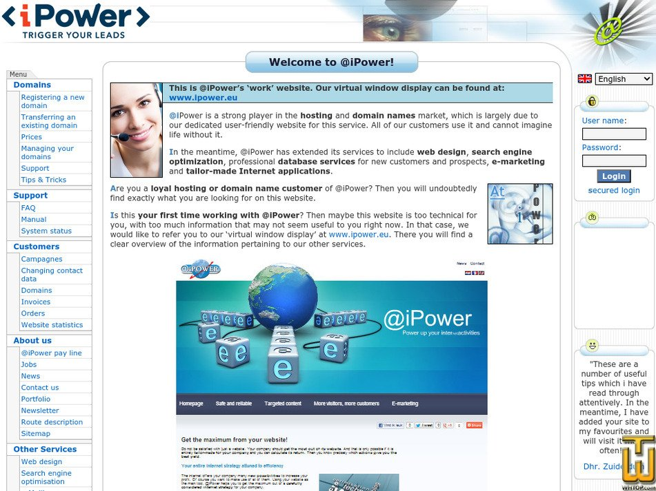 ipower.be Screenshot