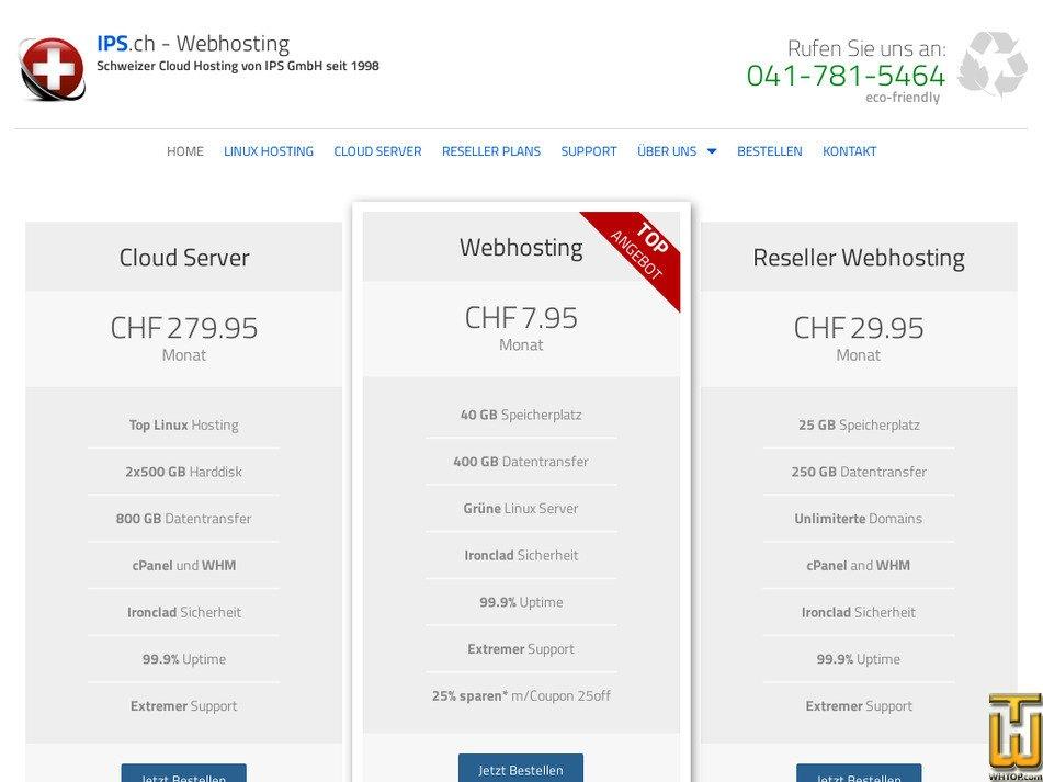 ips.ch Screenshot