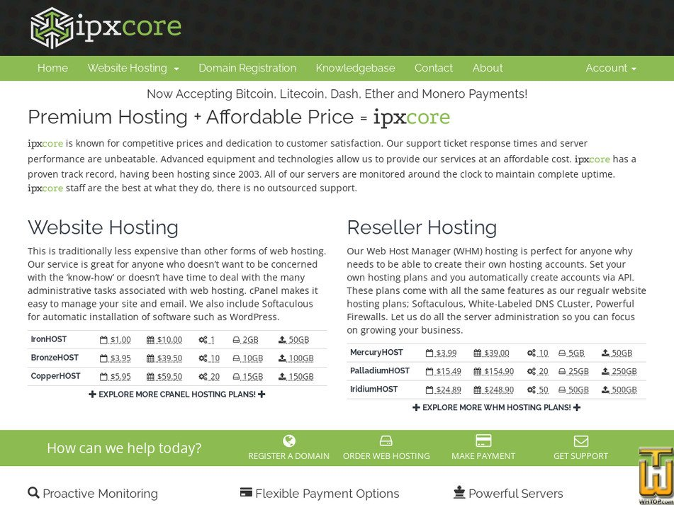 ipxcore.com Screenshot