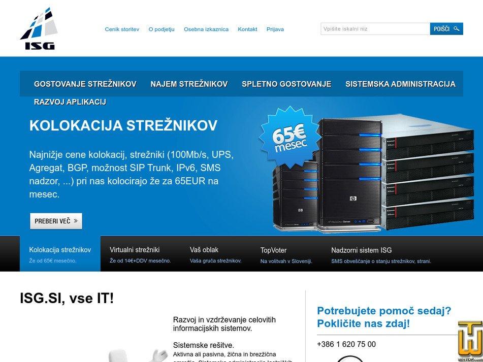isg.si Screenshot