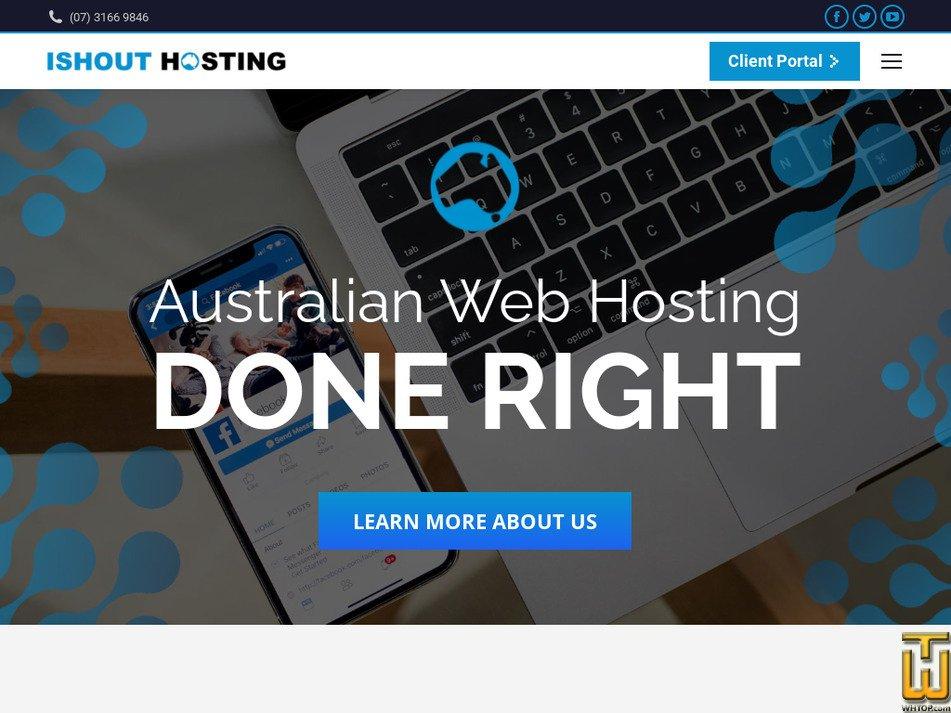ishout-hosting.com.au Screenshot