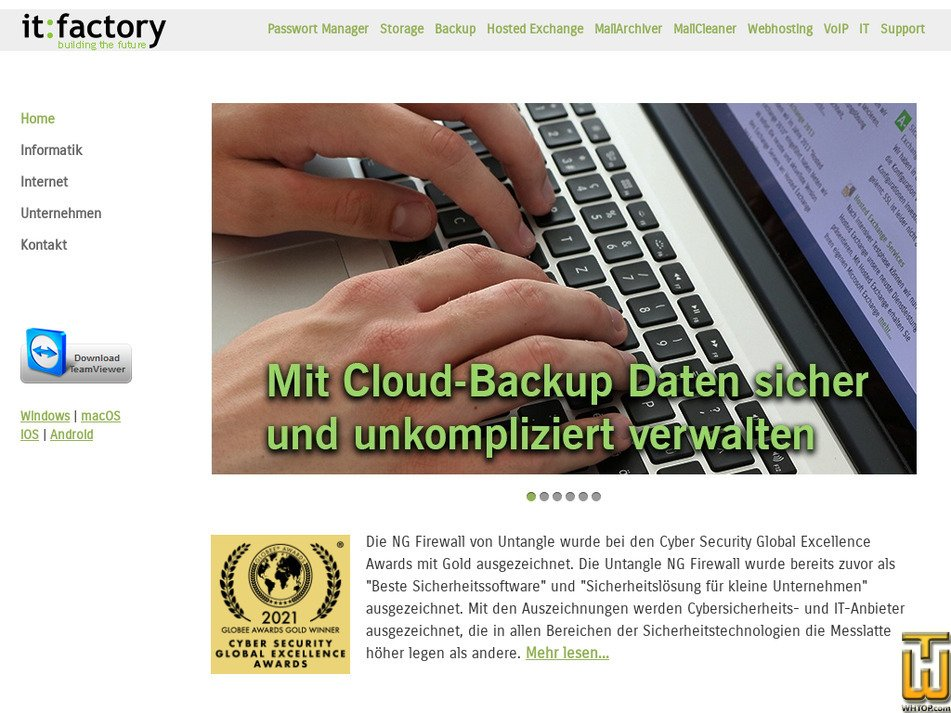 itfactory.ag Screenshot