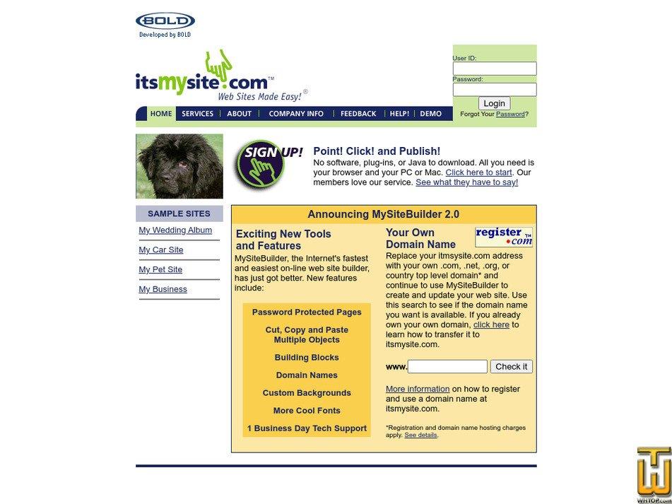itsmysite.com Screenshot