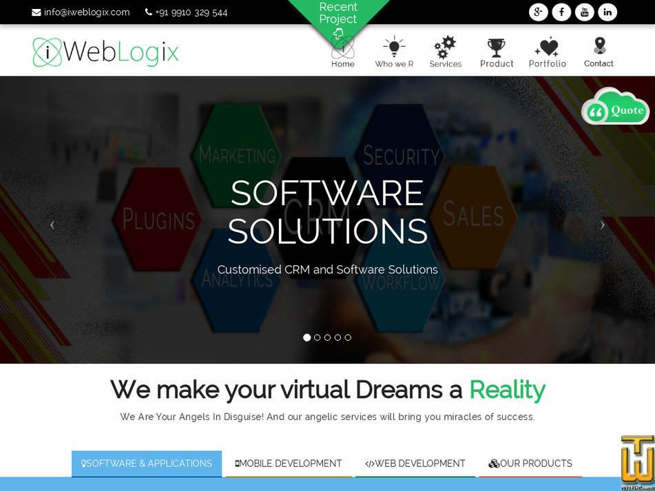 iweblogix.com Screenshot