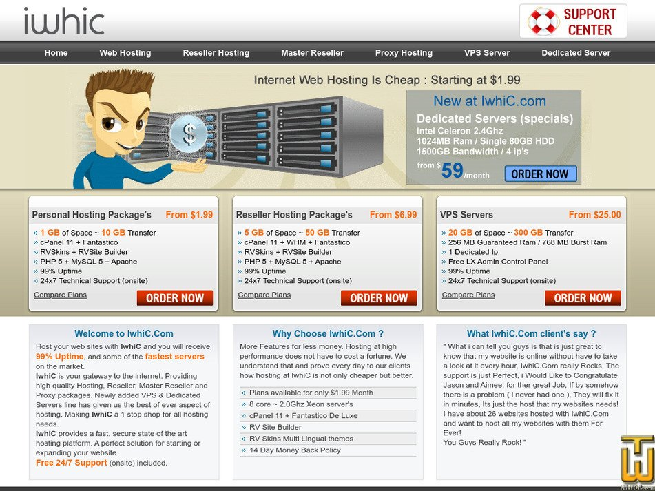 iwhic.com Screenshot