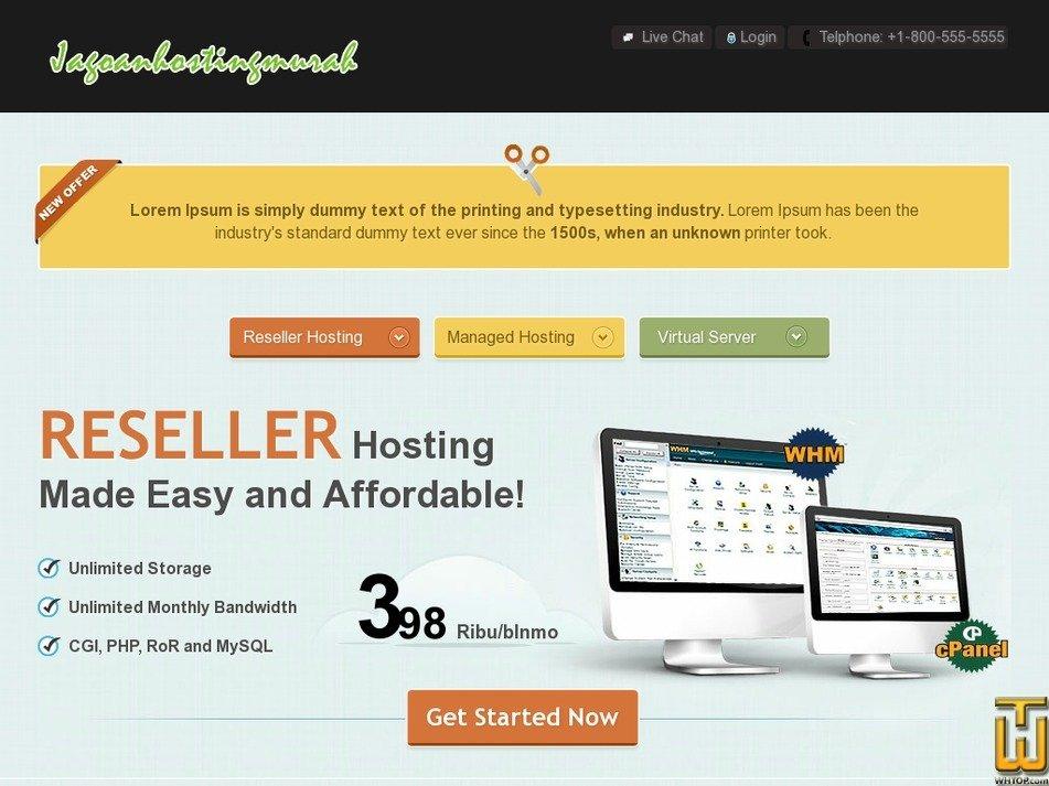jagoanhostingmurah.com Screenshot