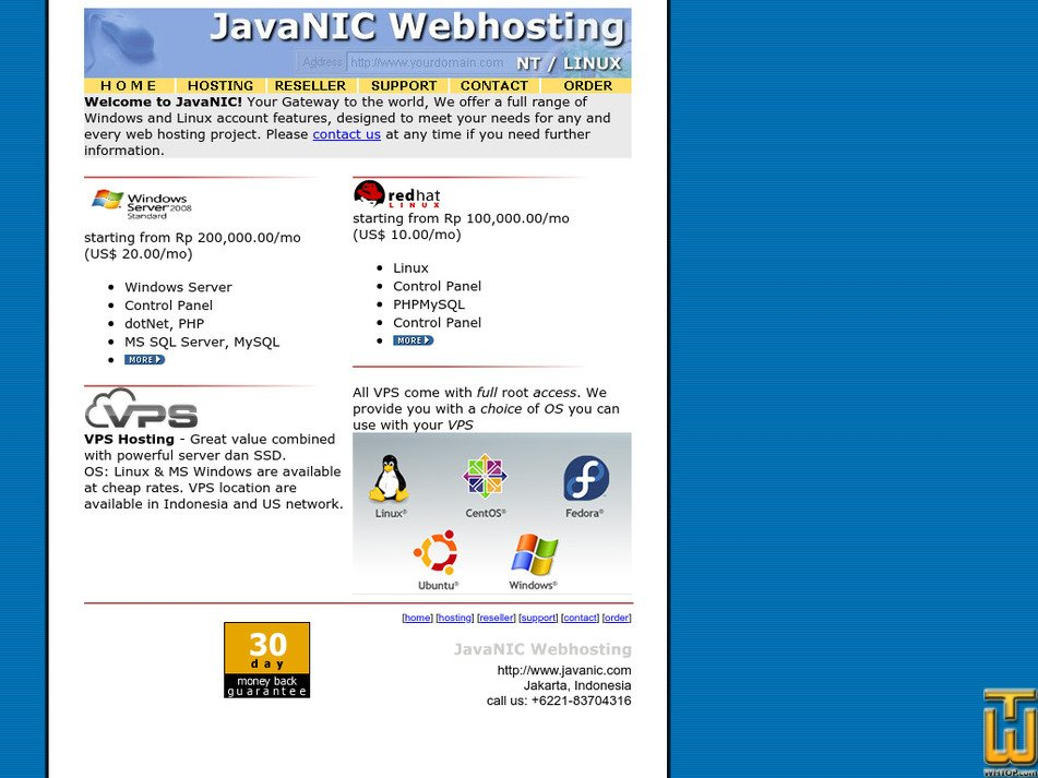 javanic.com Screenshot