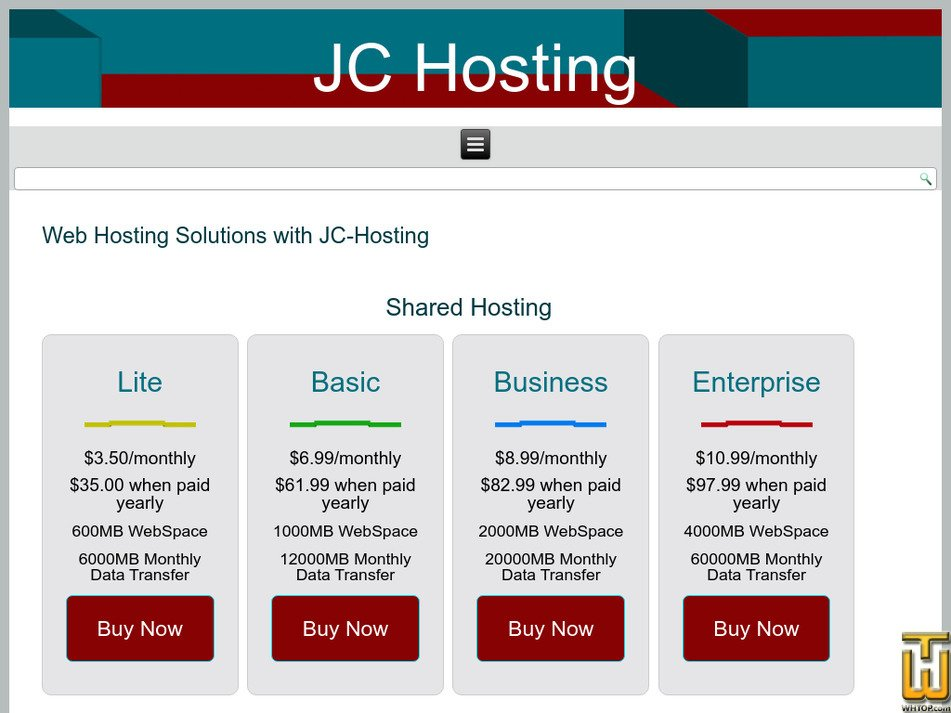 jc-hosting.net Screenshot