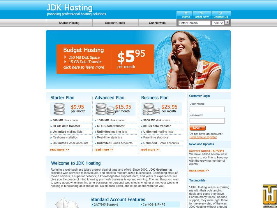 jdkhosting.com Screenshot