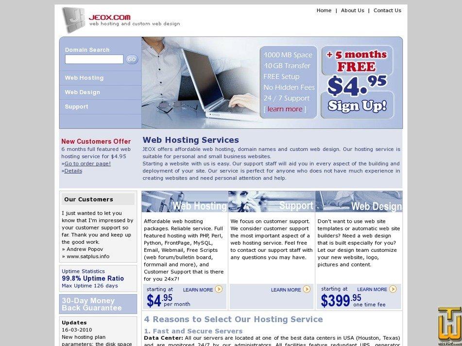jeox.com Screenshot