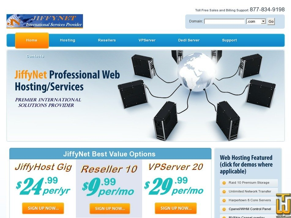 jiffynet.net Screenshot