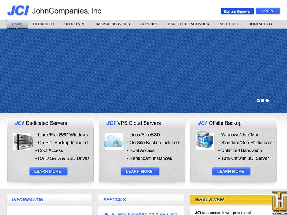 johncompanies.com Screenshot