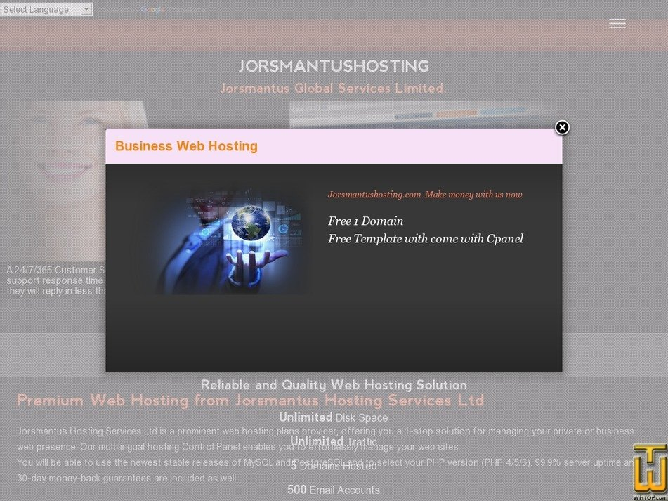 jorsmantushosting.com Screenshot