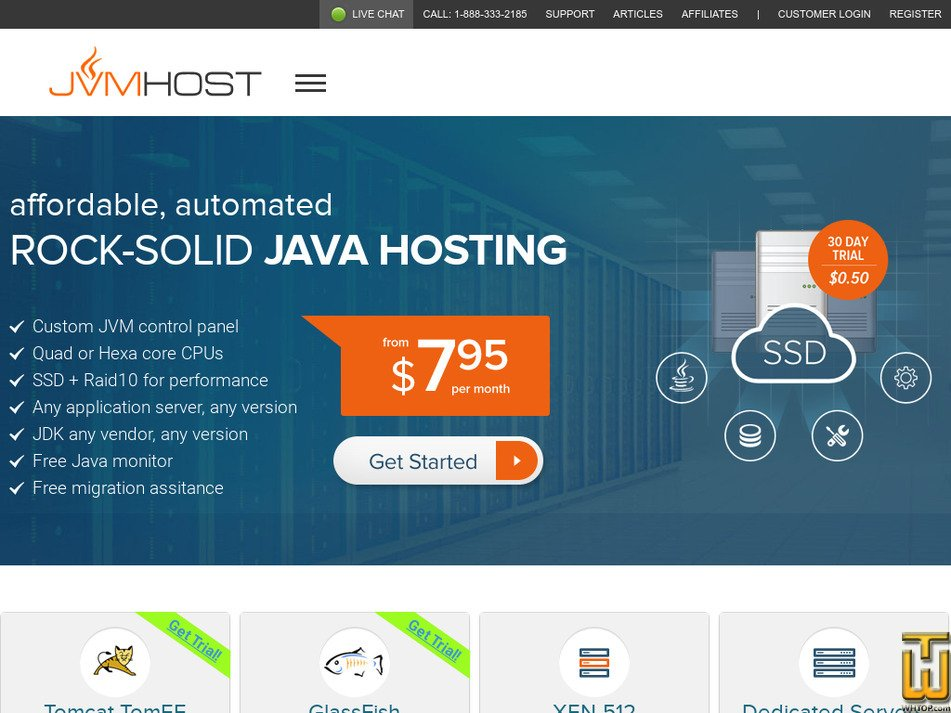 jvmhost.com Screenshot