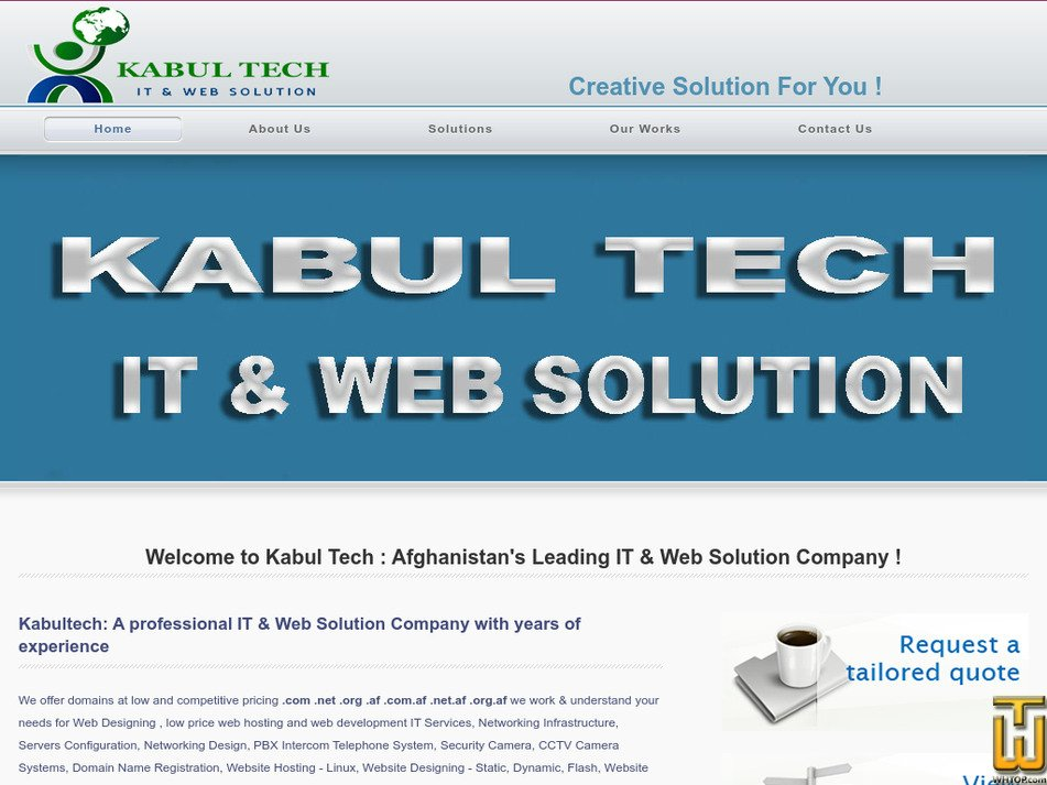 kabultech.org Screenshot