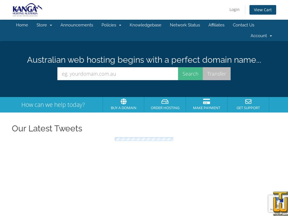 kangahosting.com.au Screenshot