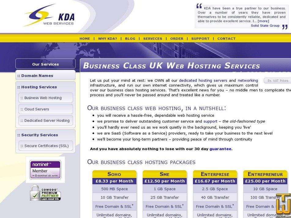 kdawebservices.com Screenshot