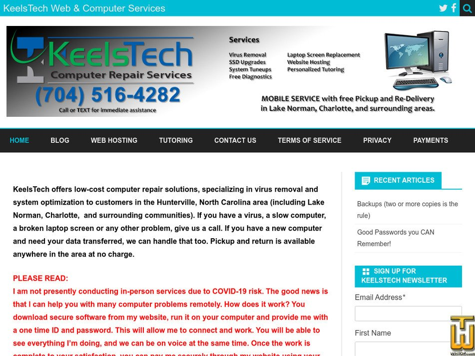 keelstech.com Screenshot