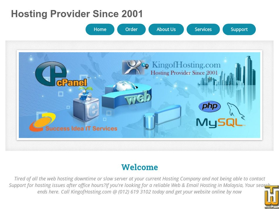 kingofhosting.com Screenshot