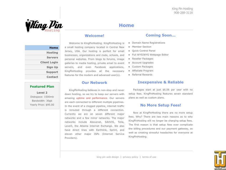 kingpinhosting.com Screenshot