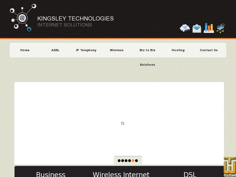 kingsley.co.za Screenshot