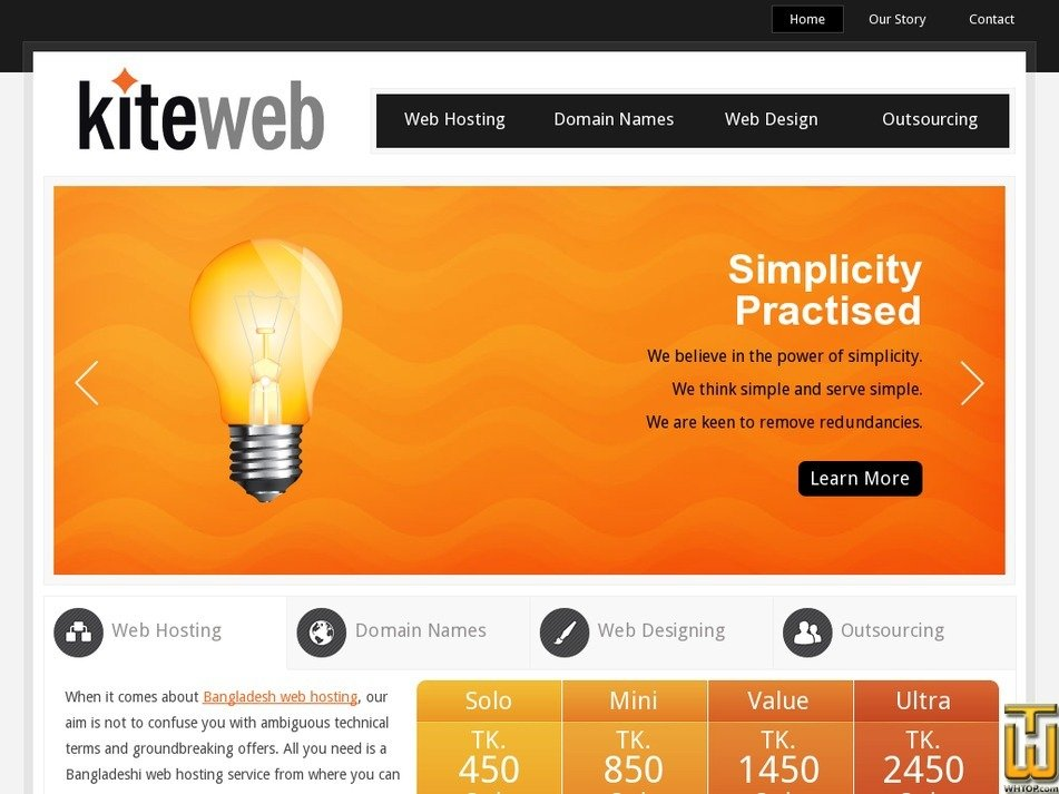 kiteweb.net Screenshot
