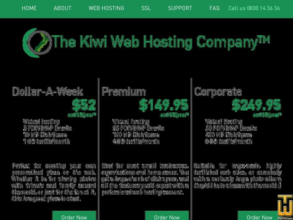 kiwiwebhost.co.nz Screenshot