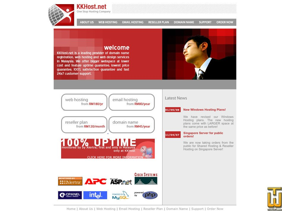 kkhost.net Screenshot