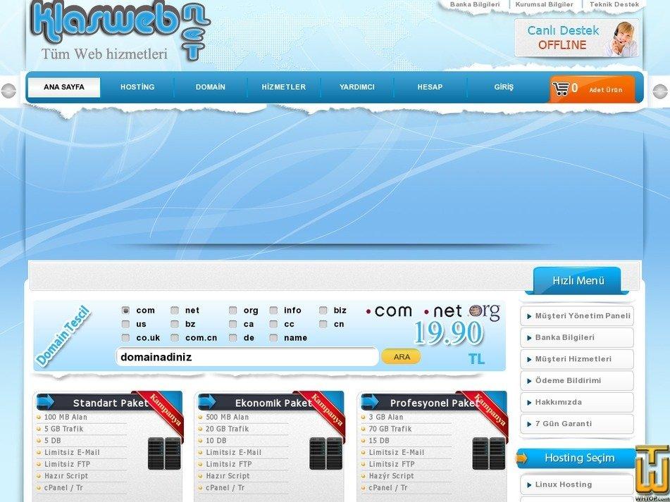klasweb.net Screenshot