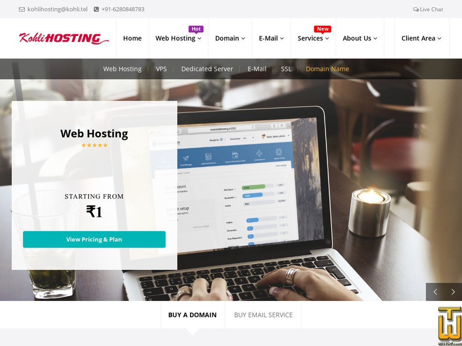 kohlihosting.com Screenshot