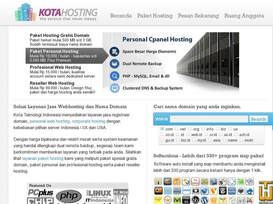 kotahosting.com Screenshot