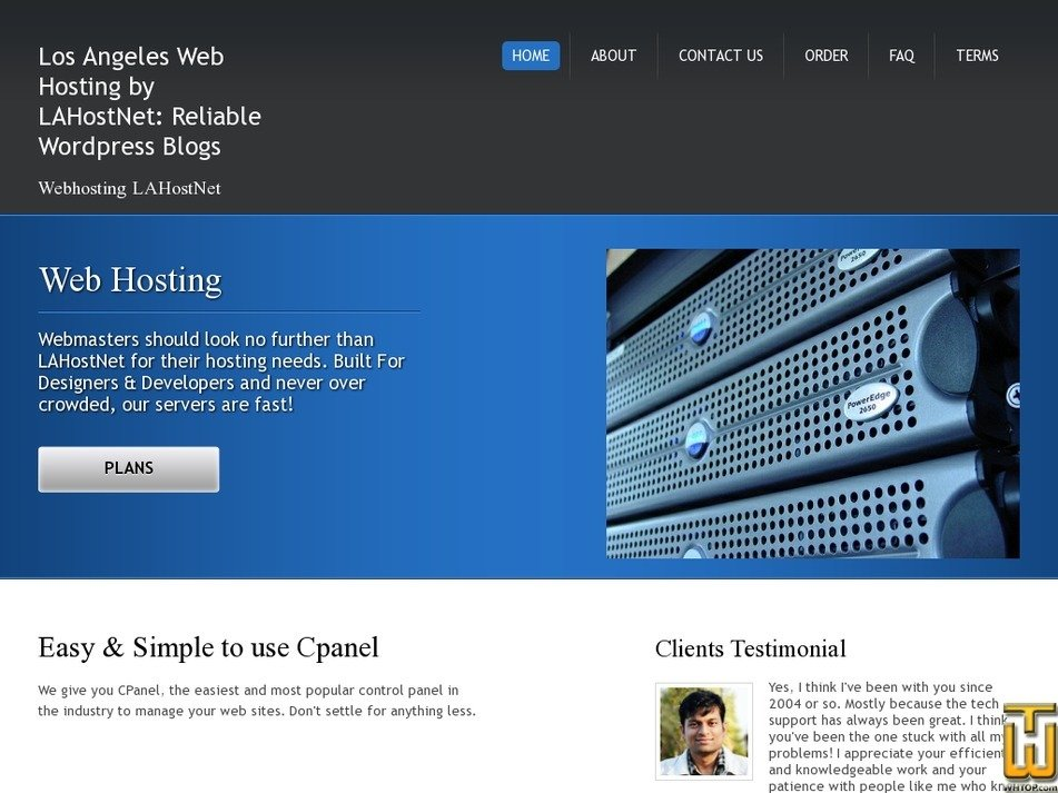 lahostnet.com Screenshot