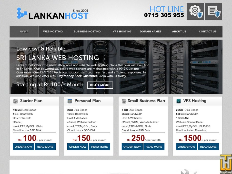 lankanhost.com Screenshot